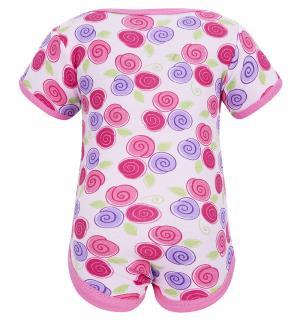 Подарочный набор боди/футболка/брюки/нагрудник/носочки/сетка для стирки , цвет: розовый Hudson Baby