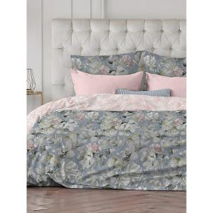 Комплект постельного белья  Flora, 2-спальное Романтика. Цвет: голубой