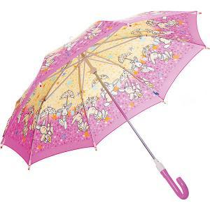 Зонт-трость  Зайчики со светодиодами, розовый Zest. Цвет: фиолетовый