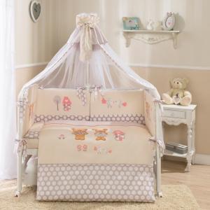Комплект постельного белья  Венеция, цвет: бежевый 7 предметов Perina