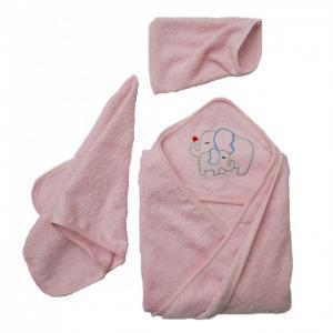 Комплект для купания махровый Слоники (3 предмета) Baby Nice (ОТК)