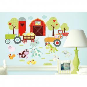 Наклейки для декора Весёлая ферма RoomMates. Цвет: mehrfarbig