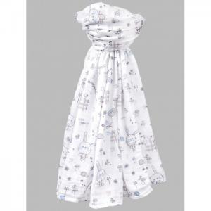 Пеленка  Муслиновая Зайчата 130х130 см Daisy Design
