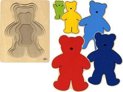 Деревянная игрушка  Пазл 5 слоев Мишки Goki