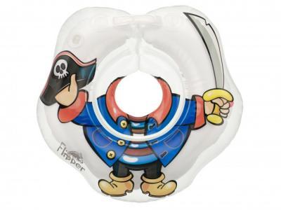 Круг для купания  надувной на шею малышей Flipper Пират ROXY-KIDS