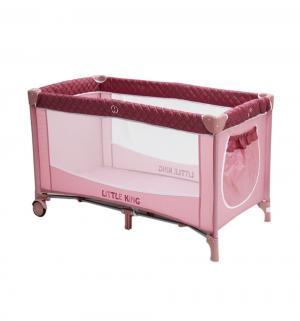 Манеж  LK-612, цвет: розовый Little King