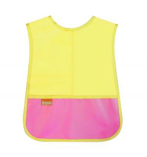 Нагрудник  Груша, цвет: желтый/карман розовый Витоша