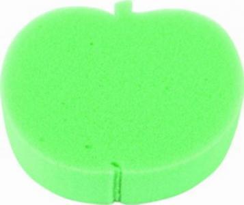 Мочалка  без массажного слоя, цвет: зеленый Курносики