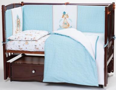 Комплект в кроватку  Волшебный лес (6 предметов) Lappetti