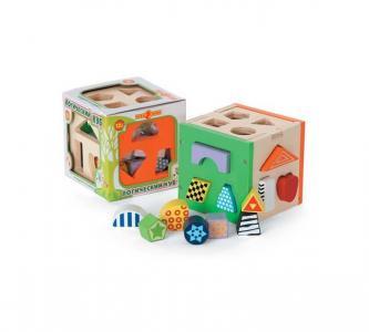 Деревянная игрушка  Куб логический Папа Карло