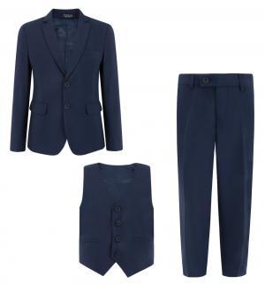 Комплект пиджак/жилет/брюки , цвет: синий Rodeng