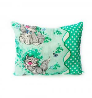 Подушка Животные 50 х 70 см, цвет: зеленый Cleo