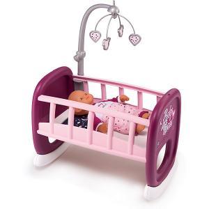 Колыбель для пупса с мобилем  Baby Nurse Smoby. Цвет: фиолетово-розовый