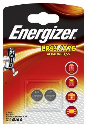 Батарейки  Alkaline типа LR44, 2 шт. в упаковке Energizer