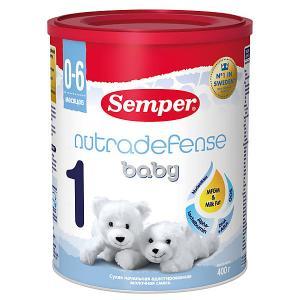 Молочная смесь  nutradefense baby 1, с 0 мес, 400 г Semper