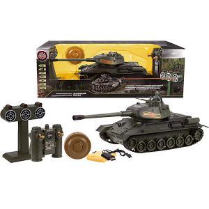 Радиоуправляемый танк Т-34  с тренировочной мишенью, 1:24 Пламенный мотор. Цвет: серый