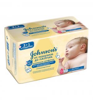 Влажные салфетки Johnsons Baby от макушки до пяточек без отдушки, 224 шт Johnson's