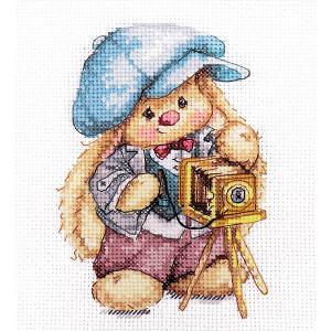 Набор для вышивания  Зайка Ми Фотограф 10х13 см Алиса