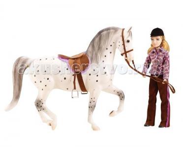 Набор лошадь и наездница любительская езда Breyer