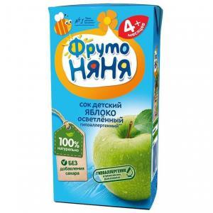 Восстановленный сок  яблоко, 200 мл ФрутоНяня