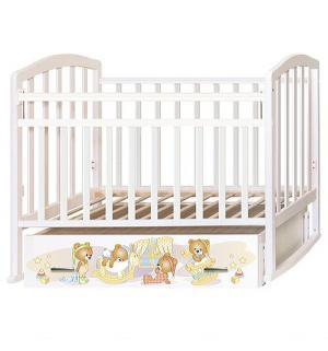 Кровать  Алита 4 Медвежата, цвет: белый Антел