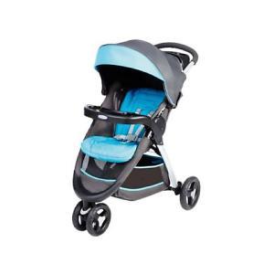 Прогулочная коляска  Fastaction Fold, серый-голубой Graco. Цвет: серый