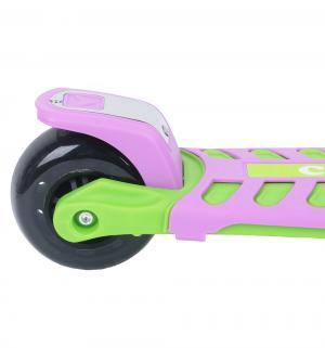 Самокат трехколесный  Cosmic Zoo Galaxy Maxi, цвет: зеленый/фиолетовый Small Rider