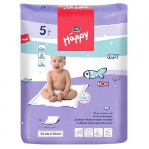 Пеленки  Baby Happy детские 60х60 см, 5 шт Bella
