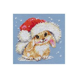 Набор для вышивания  Зимний зайчишка 12х12 см Алиса
