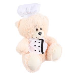 Мягкая игрушка  Медвежонок Повар 40 см цвет: бежевый СмолТойс