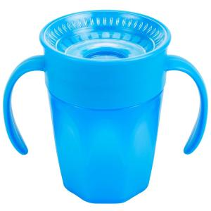 Чашка-непроливайка Dr.Browns Cheers 360° С ручками, 6 месяцев, цвет: синий Dr.Brown's