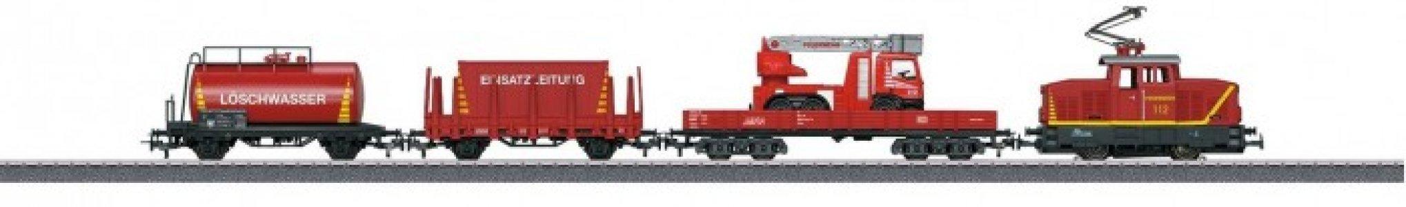 Стартовый набор железной дороги Поезд пожарной службы Marklin