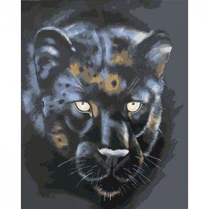 Картина по номерам на подрамнике Черная пантера 50х40 см Color Kit