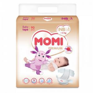 Premium подгузники NB (0-5 кг) 90 шт Momi