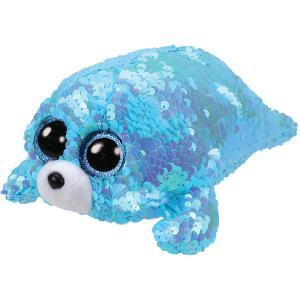 Мягкая игрушка TY Тюлень Вэйв, 15 см. Цвет: голубой