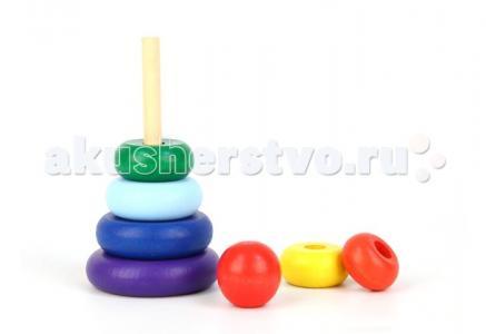 Деревянная игрушка  Пирамидка Семицветик Затейники