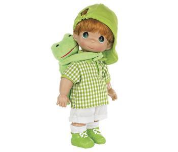 Кукла Мальчик и лягушонок Элли 30 см Precious