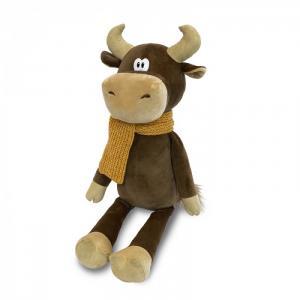 Мягкая игрушка  Бычок Федот в вязаном шарфе 28 см Maxitoys