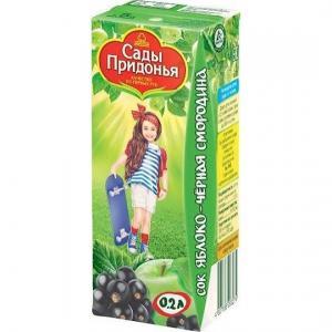 Сок  яблоко-черная смородина, 200 мл Сады Придонья