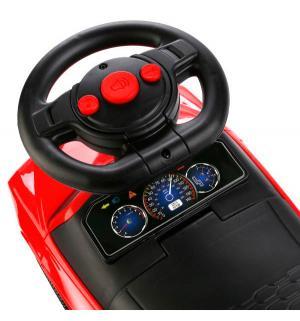 Машина-каталка  со спинкой, цвет: красный Bugati