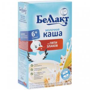 Каша  молочная 5 злаков с 6 месяцев 250 г Беллакт