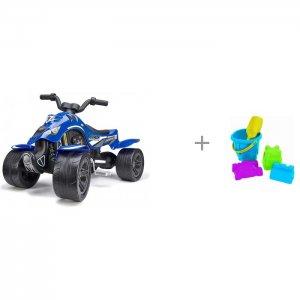 Квадроцикл педальный 84 см FAL 63 и Нордпласт Набор для песка № 8 Falk