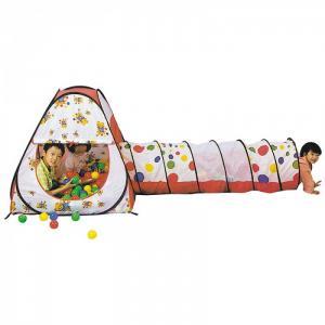 Палатка-домик с туннелем + 100 шаров Конус Calida