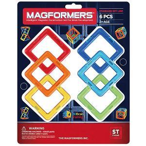 Магнитный конструктор Magformers Квадраты 6