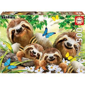 Пазл  Семейное селфи ленивцев, 500 элементов Educa
