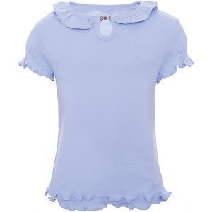 Блузка Снег Белый. Цвет: голубой