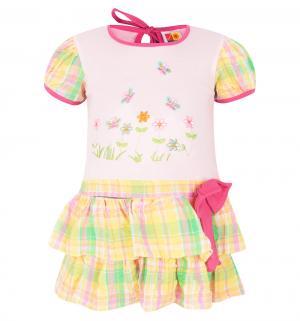 Платье , цвет: розовый/желтый Damy-M