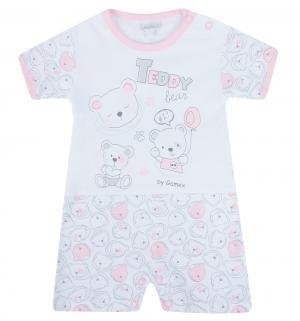 Песочник  Teddy Bear, цвет: белый/розовый Gamex