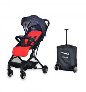 Прогулочная коляска  Baby travel E-330, цвет: red Everflo