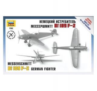 Сборная модель  Истребитель Мессер BF-109F-2 Звезда